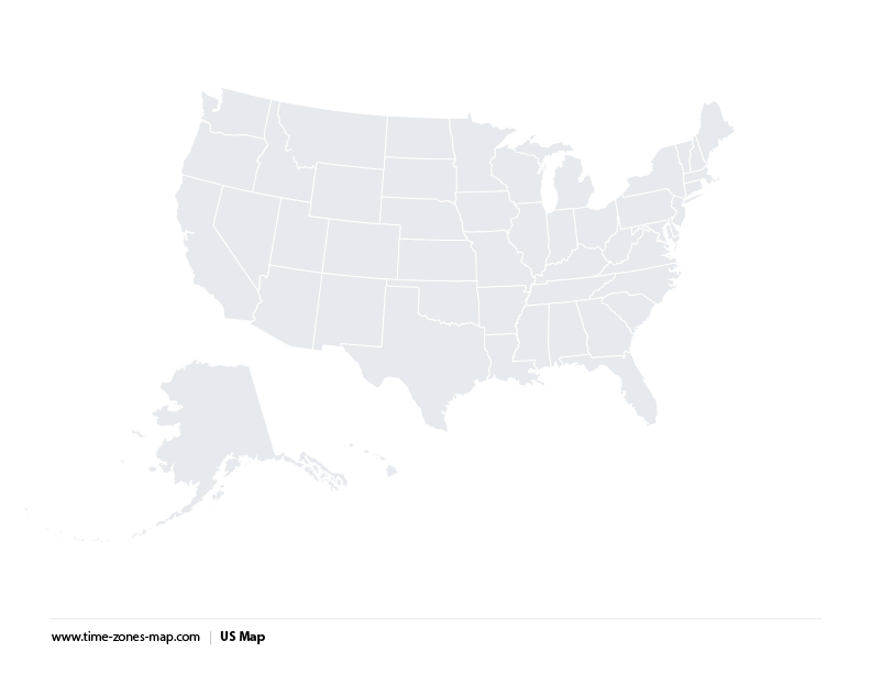 Usa Time Zone Map Black And White Maps Free Usa Maps