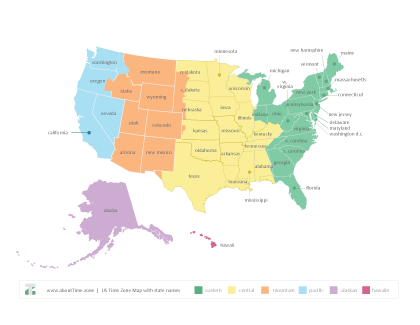 printable map of usa with states